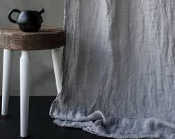 linen curtains etsy