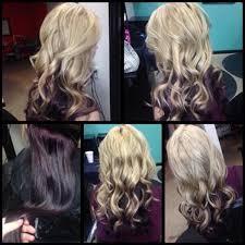 dark hair underneath light on top light blonde and deep red underneth hair colors ideas