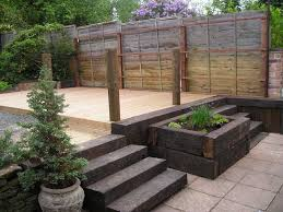 Railway Sleepers Garden Ideas Stunning Ideas With Railway Sleepers As Garden Ideas With Railway
