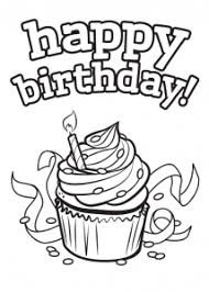 free coloring pages happy birthday cards print colour