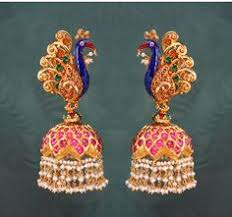 peacock design earrings different type jhumka gold buttalu gold jewellery designs