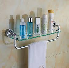 Glass Bathroom Corner Shelves Bathroom Single Shower Glass Shelf Bath Shower Shelf Corner Rack