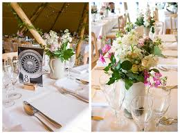 Mismatched Vases Wedding A Perfect English Summer Wedding With A Teepee Part 2