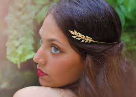 olive leaf greek goddess headband leaves headband bridal