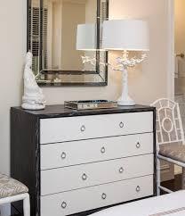 Bungalow 5 Nightstand Berkeley Medium 4 Drawer Brickfront Dresser Gray And White