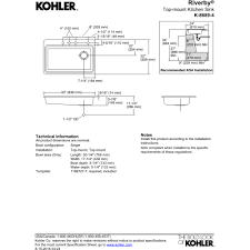 Kitchen Sink Installation Instructions by Kohler K 8689 4 0 Riverby White Drop In Single Bowl Kitchen Sinks
