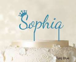 name cake toppers custom name cake topper with crown personalized birthday