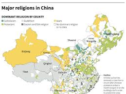 china on a map map showing religions in china business insider