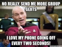 Group Text Meme - texts