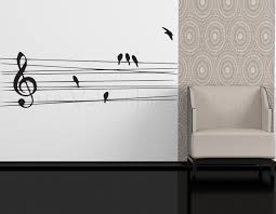 Dorm Room Wall Decor by Birds On A Wire Wall Decal Music Wall Decal Bedroom Wall Decal