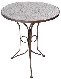 Blue Mosaic Bistro Table by Esschert Design Ac91 70 X 60 X 60cm Ceramic Round Table Blue