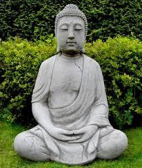 1m high meditating cast buddha garden statue ornament