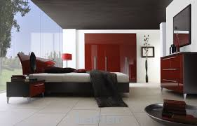 Black And White Bed Red Bedrooms