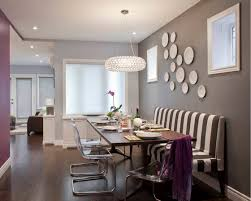 Dark Grey Accent Wall by Decorative Plates On The Wall Of The Dining Room Small Design Ideas