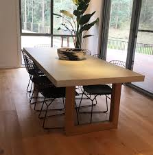 polished concrete blocks dining table concrete nation