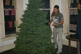 jed putting lights on tree 7739
