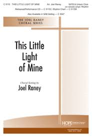 instrumental this little light of mine this little light of mine sheet music by joel raney sheet music plus
