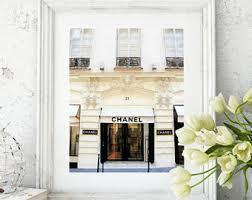chanel paris store fashion print art print chanel store