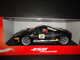 toy ferrari 458 wheels ferrari 458 challenge racing 12 black 1 18 diecast car