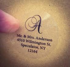wedding invitation address labels clear script monogram address labels for wedding invitation thank