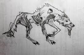 zombie wolf sketch lindsey blakely art portfolio
