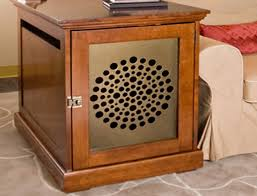 dog crate end table furniture beblincanto tables dog crate end