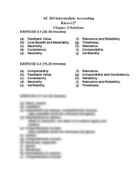 chapter 2 exercise solutions accounting 203 with peck at