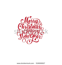 merry happy new year vector stock vector 519698827