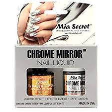amazon com mia secret chrome mirror nail liquid uv base top gel