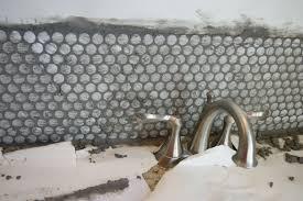 Copper Penny Tile Backsplash - winsome living room penny backsplash picturesle round kitchen pics