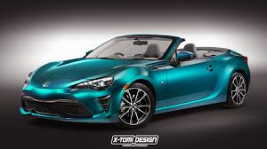 subaru brz convertible price facelifted toyota gt 86 convertible render is food for thought