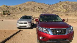 nissan pathfinder vs toyota highlander 2013 nissan pathfinder vs dodge durango 0 60 mph mile high mashup