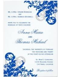 Royal Blue Wedding Invitations Big Deal On Royal Blue And Silver Flourish Wedding Invitation 5 X
