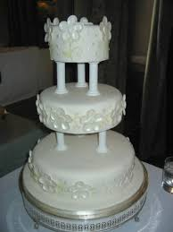 white wedding cake in 3 tier