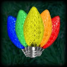 led multi color c7 bulbs faceted replacement spare 25