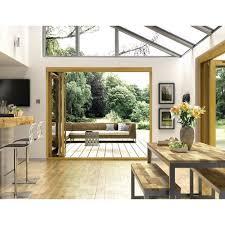 Exterior Folding Patio Doors Wickes Albery Solid Oak External Door Folding Set Oak 7ft Wide
