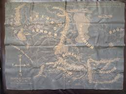 Leather Map My Husband U0027s Wedding Gift To Me Was A Map Of Middle Earth Burned