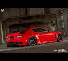 maserati granturismo 2016 red liberty walk lb performance maserati granturismo wide body kit