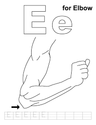 elbow alphabet coloring pages free alphabet coloring pages of