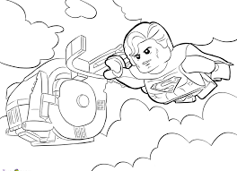 lego superman coloring pages flying sky printable free