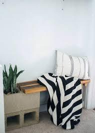 cinder block bench planter furniture decor trend inexpensive
