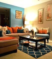 orange livingroom teal and orange living room decor orange and teal living room