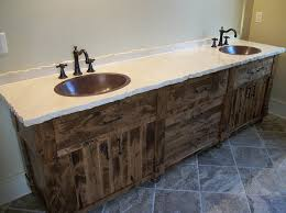 Reclaimed Wood Double Sink Pic Of Reclaimed Wood Bathroom Vanity - Bathroom vanities double sink wood