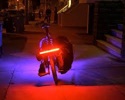 rear bike light rack mount the down low glow rock the bike