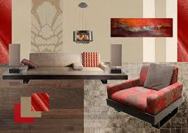 Funky Living Room Wallpaper - aus jimmy style interior sampleboard