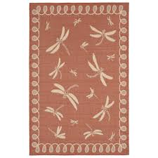 Rug Outdoor Rug Dragonfly In Terracotta Flat Woven