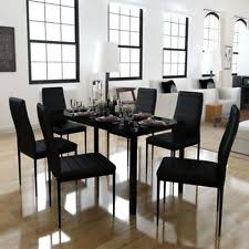 Glass Dining Table With 6 Chairs Glass Dining Furniture Sets Ebay