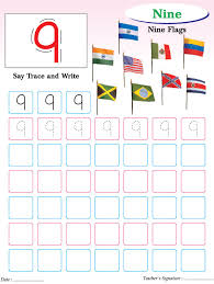 numbers writing practice worksheet 9 download free numbers