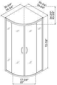 dreamline dl 6161 sector shower enclosure base and backwall kit