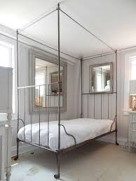 White Metal Canopy Bed by Canopy Bed Iron Zamp Co